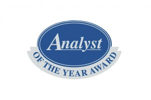 Analyst of the year award